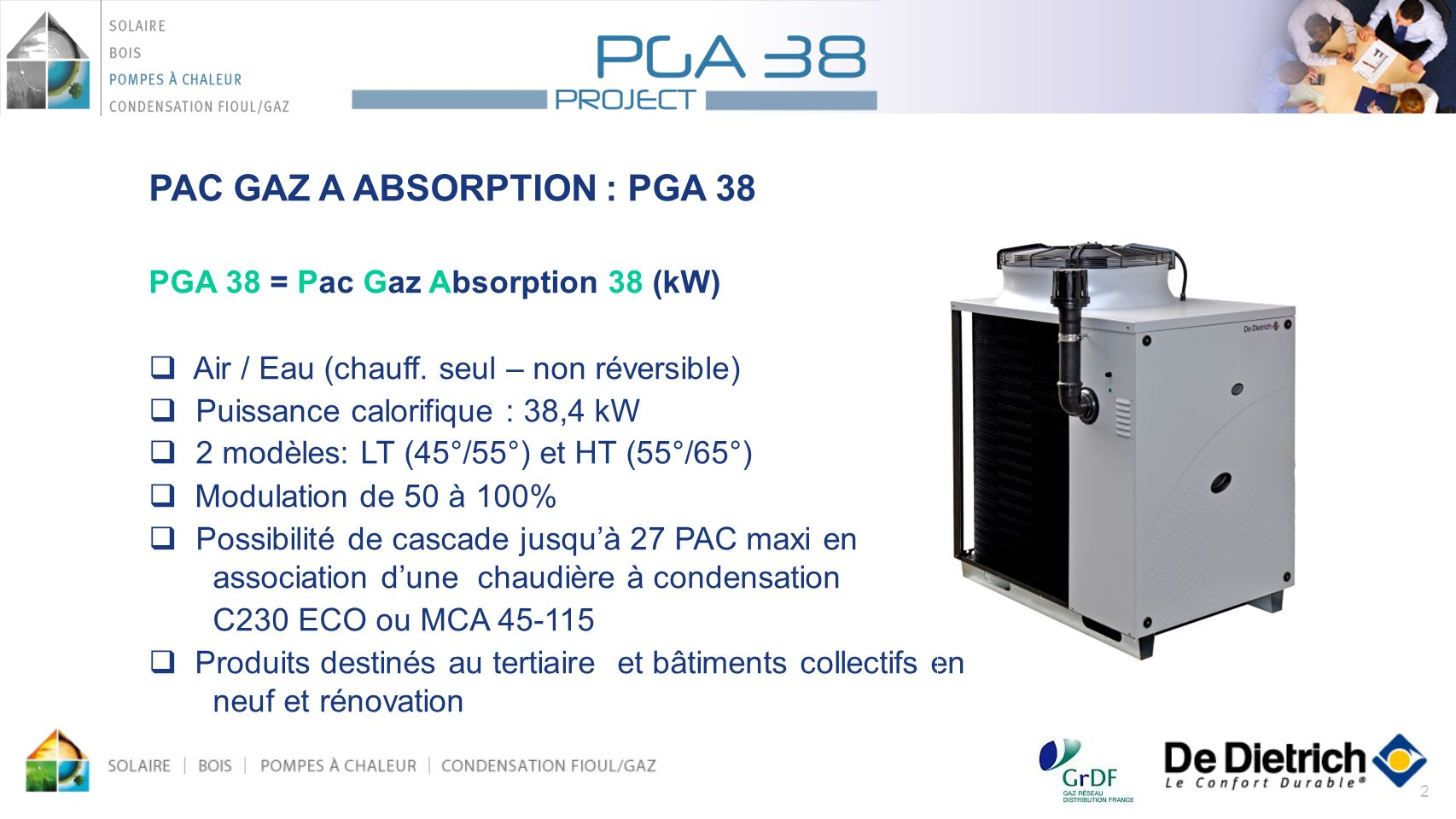 PAC GAZ A ABSORPTION : PGA 38
