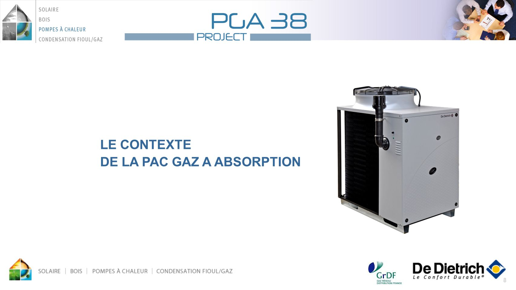 LE CONTEXTE DE LA PAC GAZ A ABSORPTION