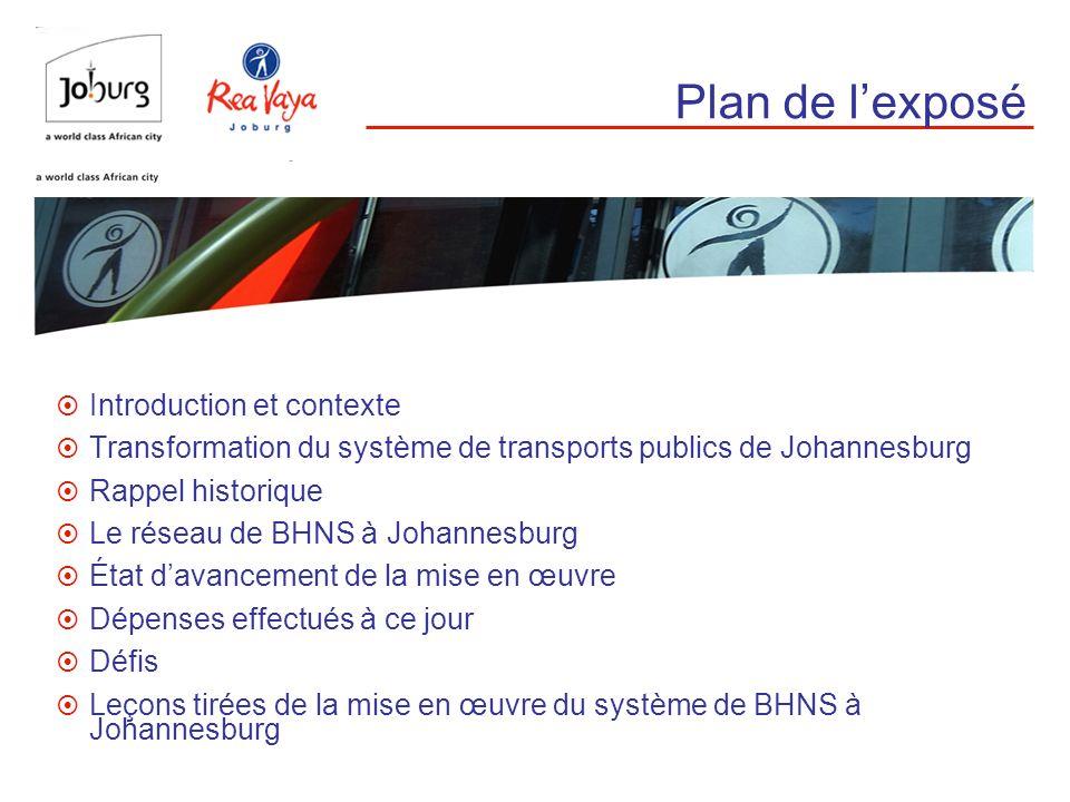 Plan de l'exposé Introduction et contexte