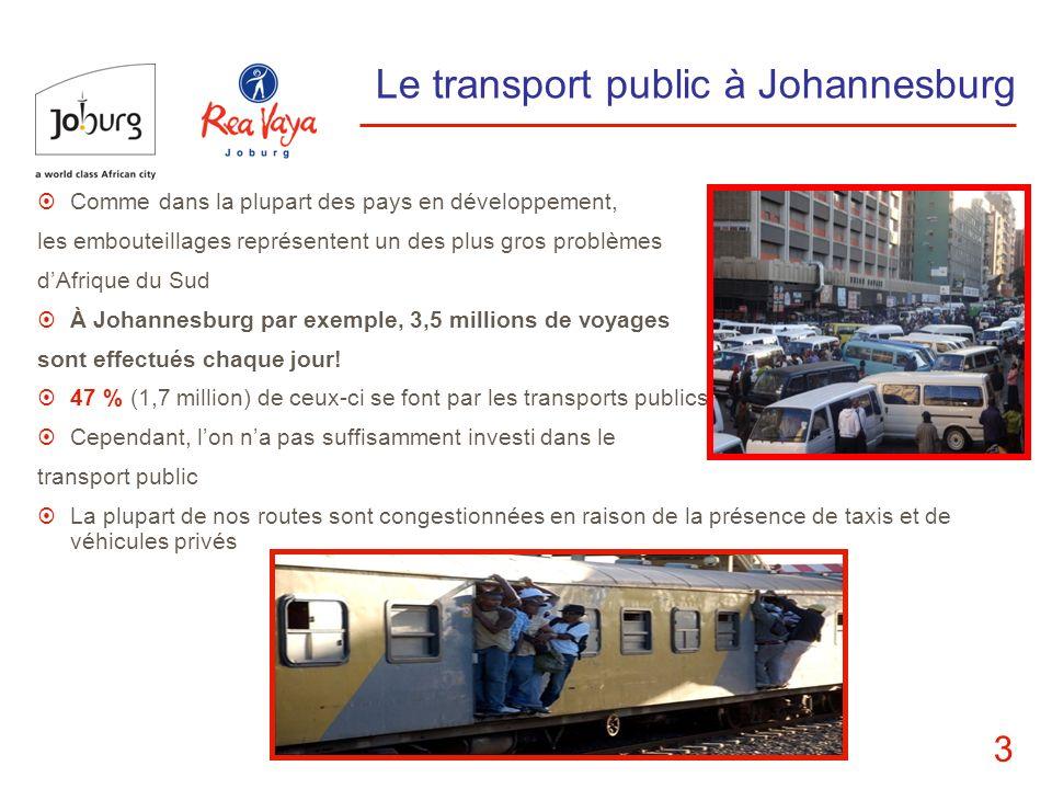 Le transport public à Johannesburg