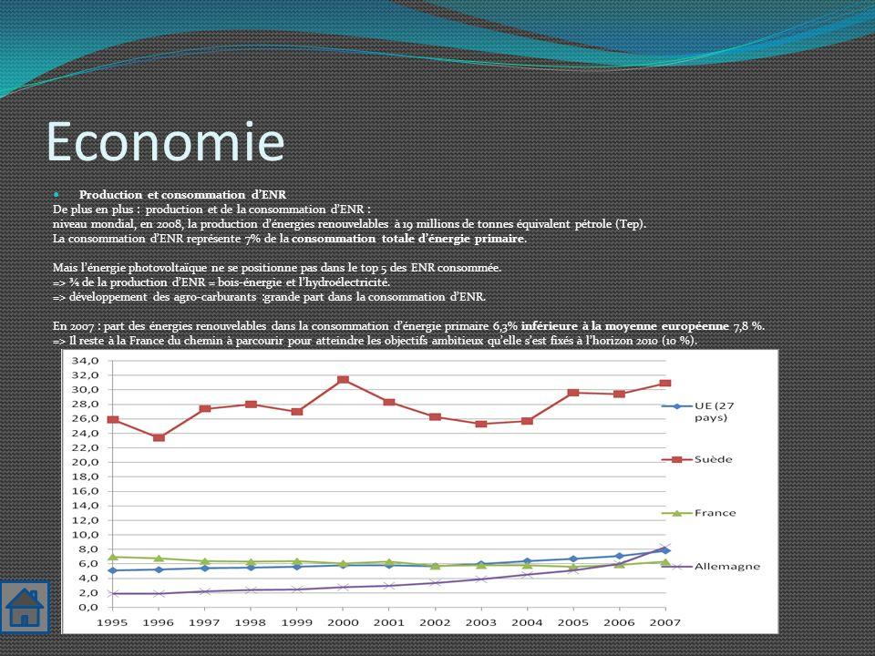 Economie Production et consommation d'ENR