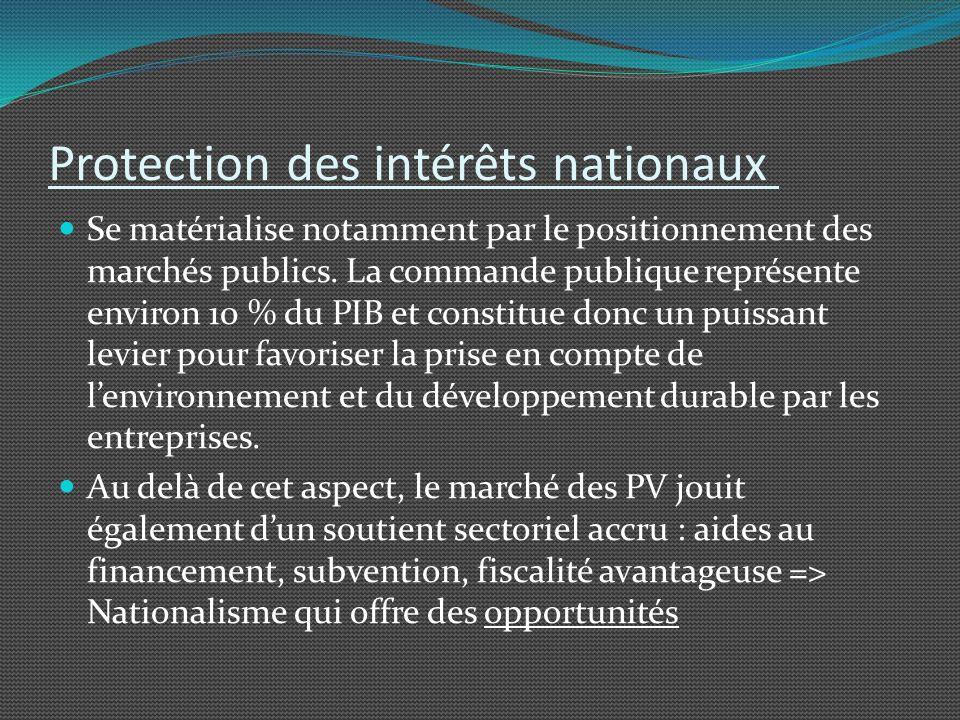 Protection des intérêts nationaux