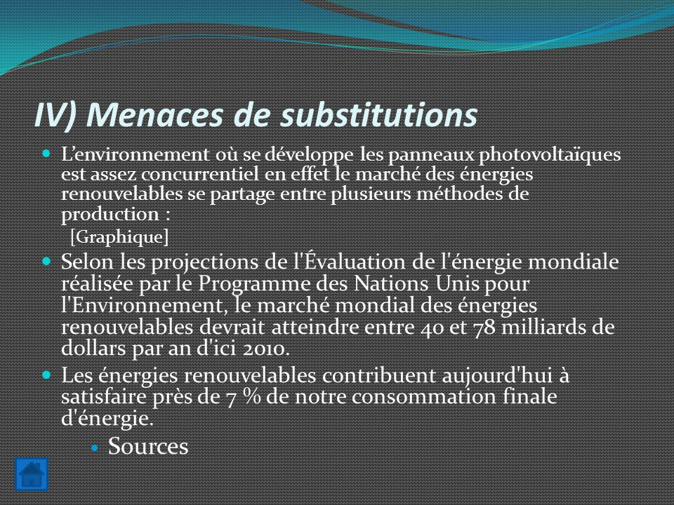 IV) Menaces de substitutions