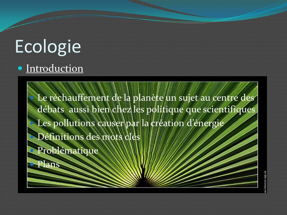 Ecologie Introduction