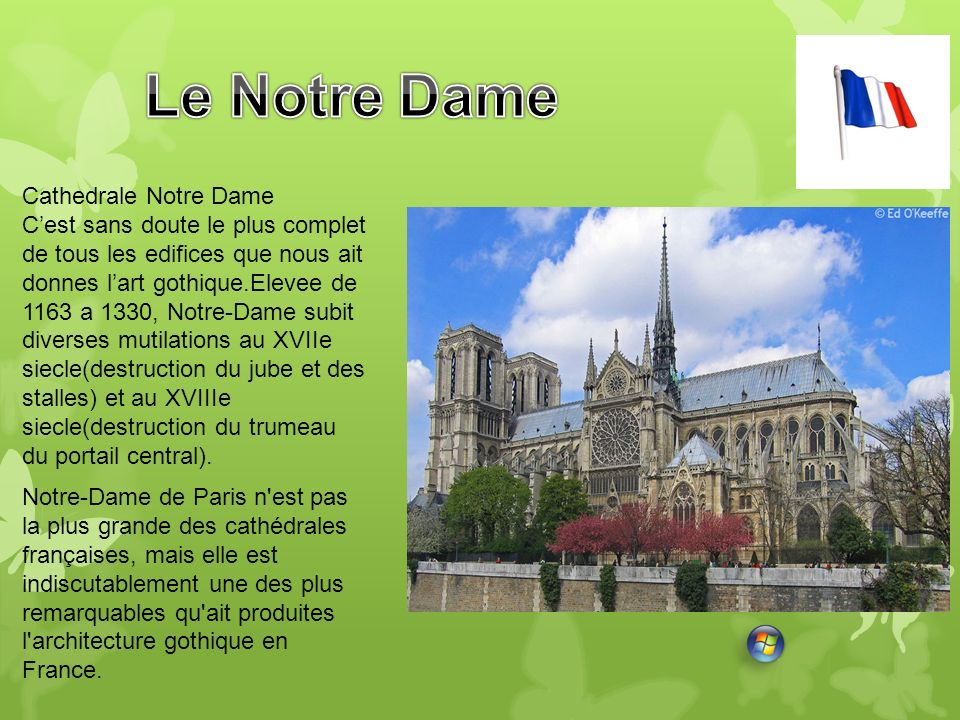 Le Notre Dame Cathedrale Notre Dame