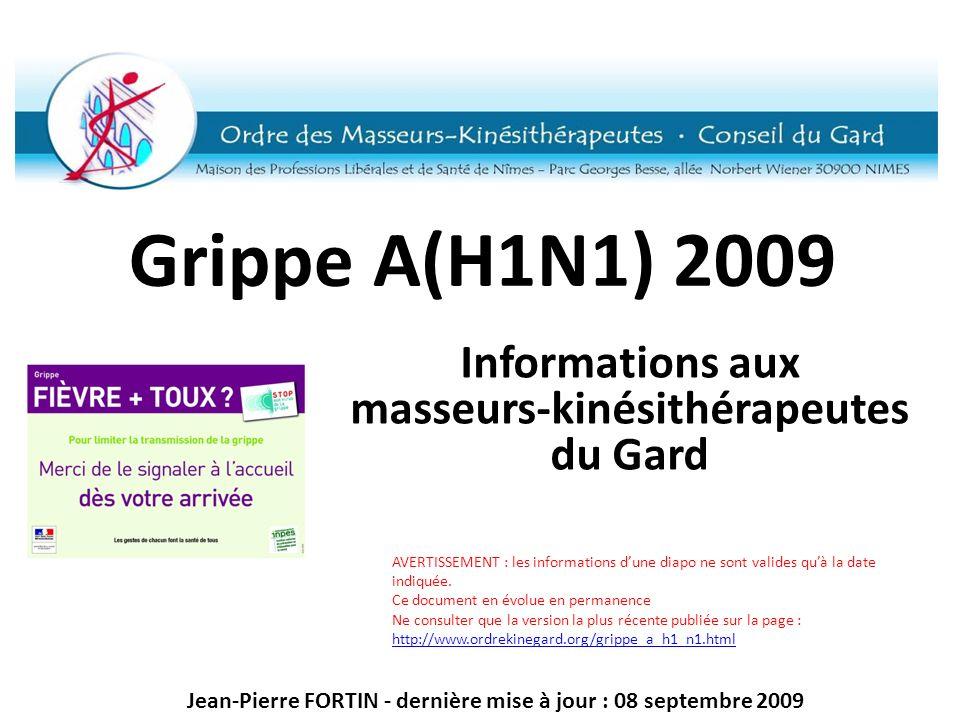 Informations aux masseurs-kinésithérapeutes du Gard