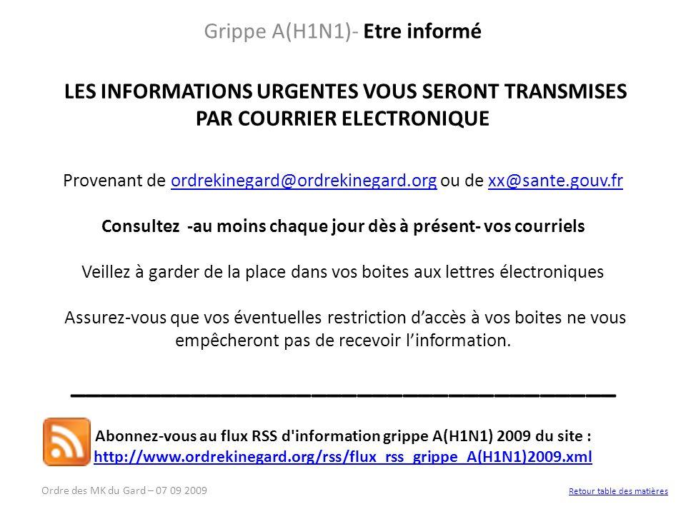 Grippe A(H1N1)- Etre informé