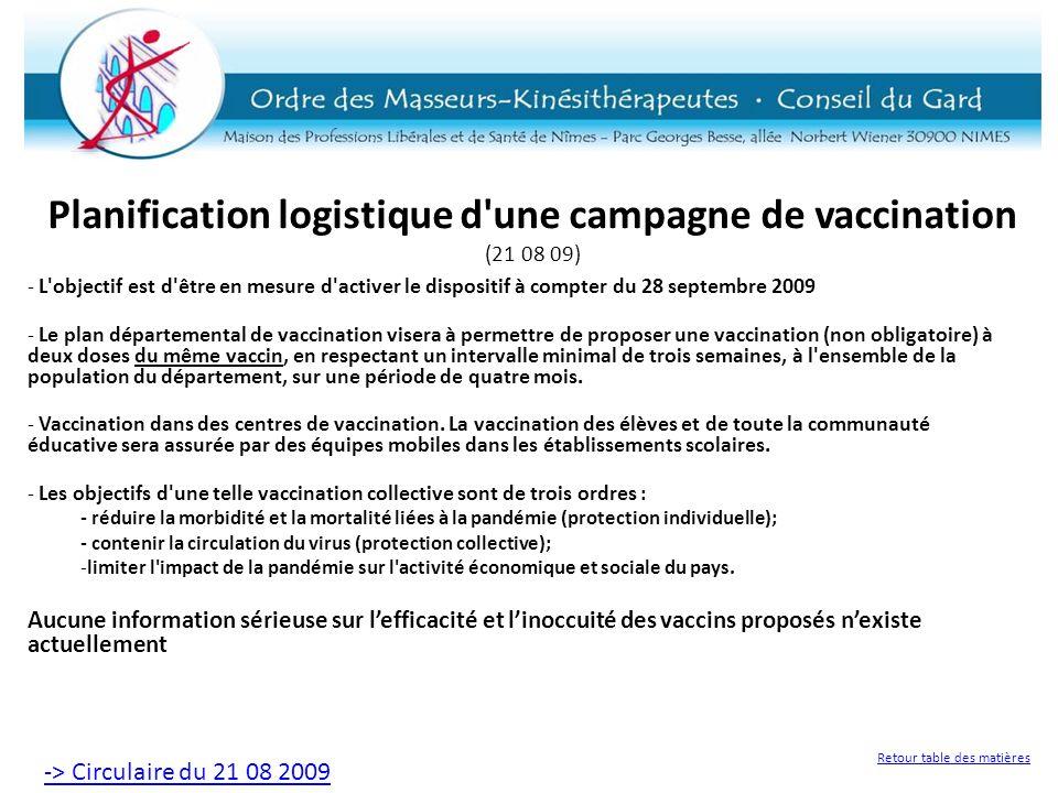 Planification logistique d une campagne de vaccination (21 08 09)