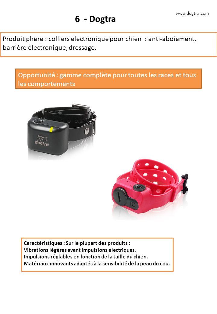 www.dogtra.com 6 - Dogtra. Produit phare : colliers électronique pour chien : anti-aboiement, barrière électronique, dressage.