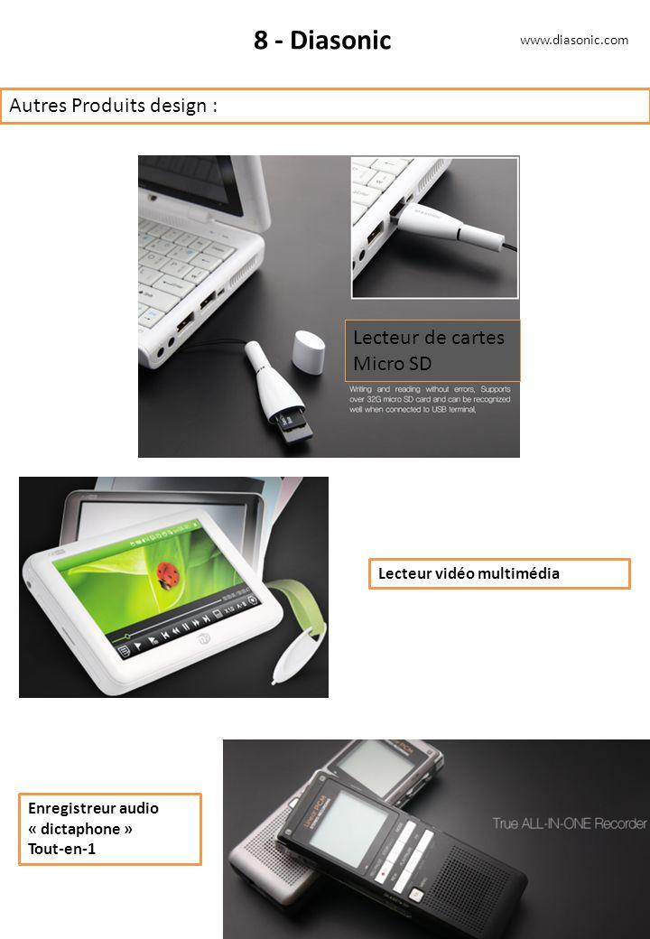 8 - Diasonic Autres Produits design : Lecteur de cartes Micro SD