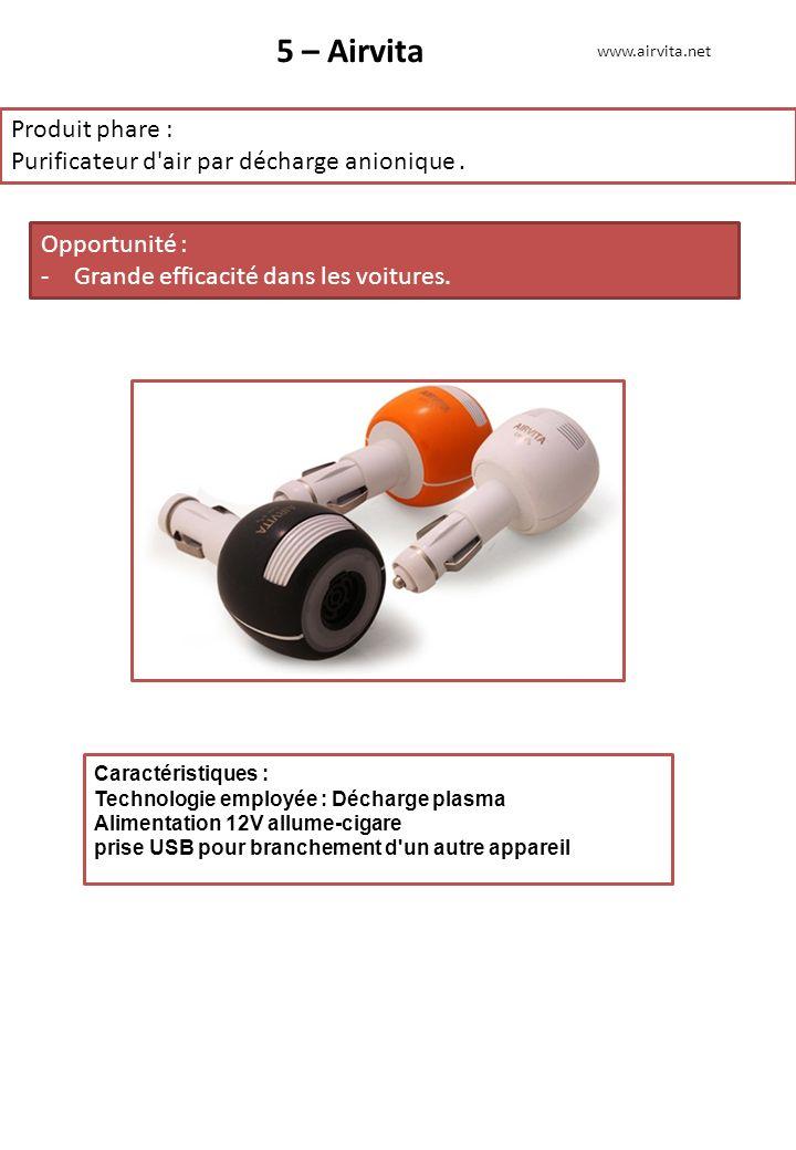5 – Airvita Produit phare :