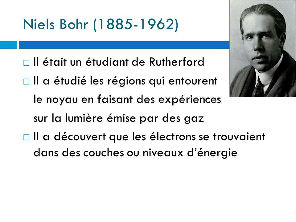 Niels Bohr (1885-1962) Il était un étudiant de Rutherford