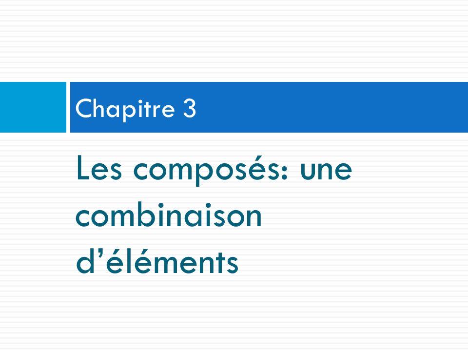 Les composés: une combinaison d'éléments