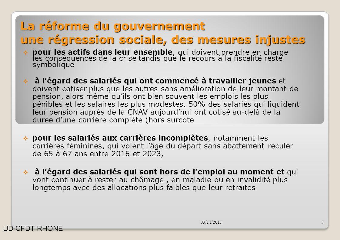 La réforme du gouvernement une régression sociale, mue par la ferme volonté de rassurer « les marchés »