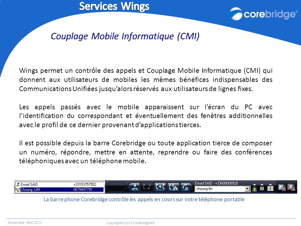 Couplage Mobile Informatique (CMI)