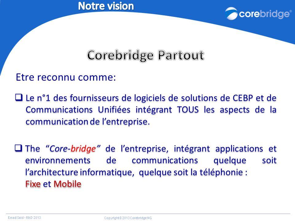 Corebridge Partout Notre vision Etre reconnu comme: