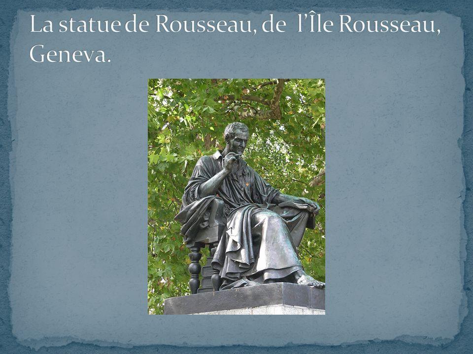 La statue de Rousseau, de l'Île Rousseau, Geneva.