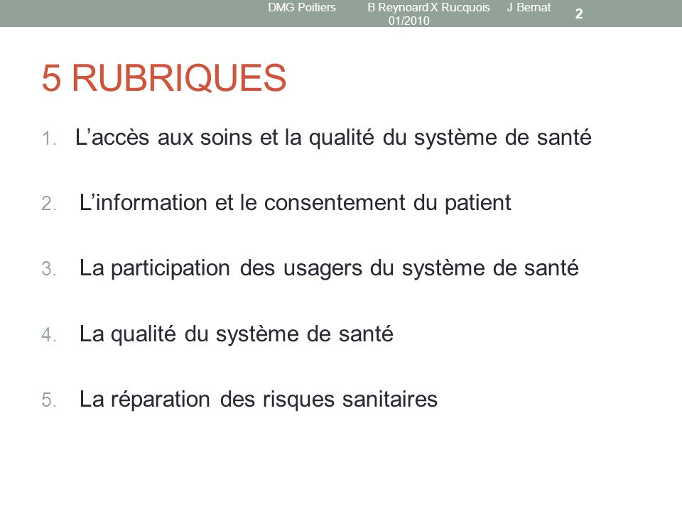 DMG Poitiers B Reynoard X Rucquois J Bernat 01/2010