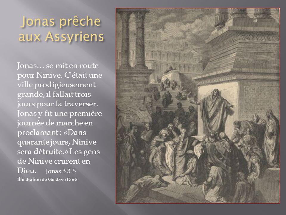 Jonas prêche aux Assyriens