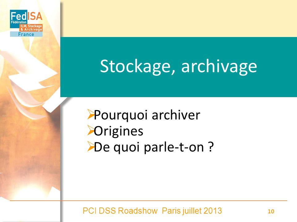 Stockage, archivage Pourquoi archiver Origines De quoi parle-t-on