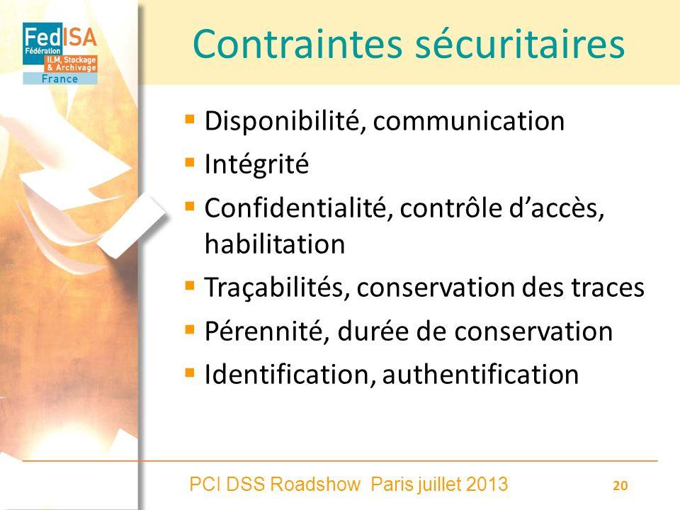 Contraintes sécuritaires