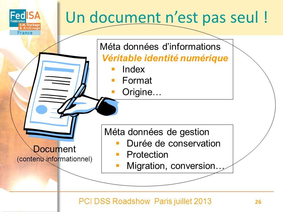 Un document n'est pas seul !