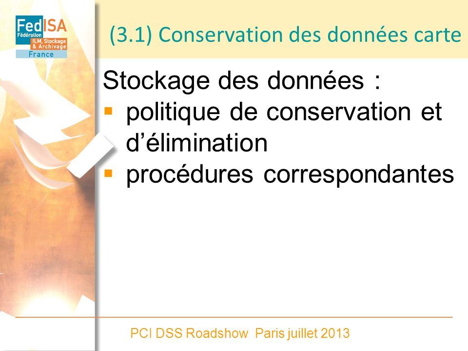 politique de conservation et d'élimination procédures correspondantes