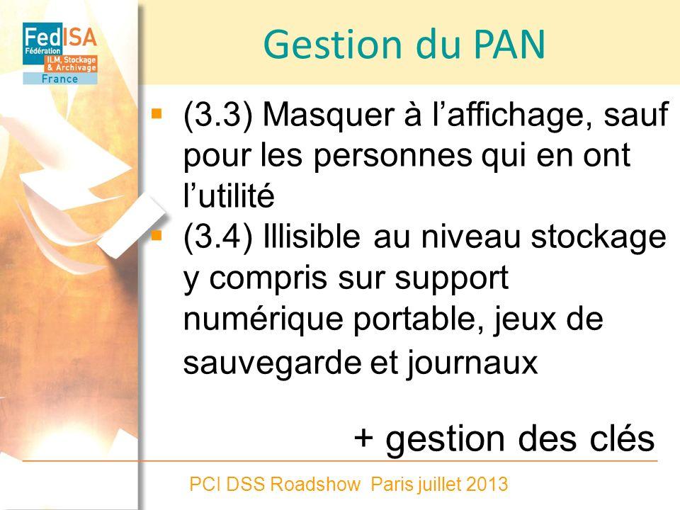 Gestion du PAN + gestion des clés