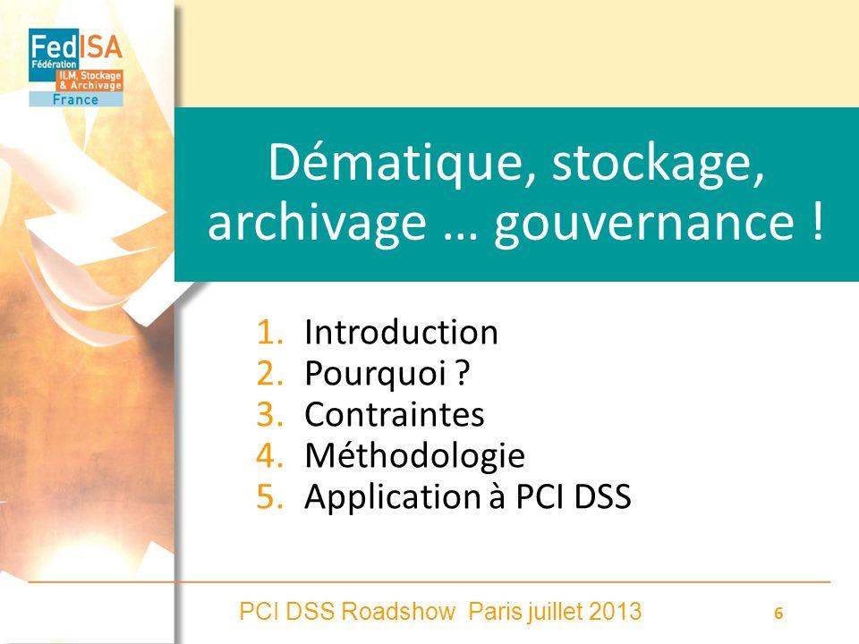 Dématique, stockage, archivage … gouvernance !