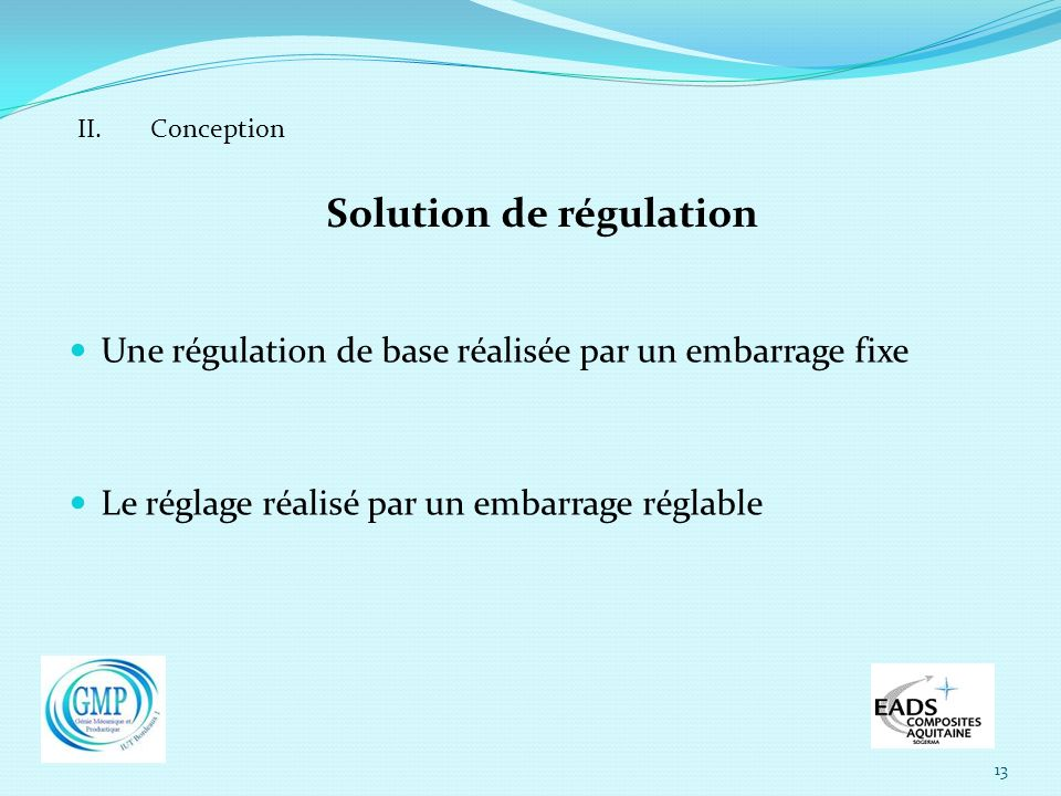Solution de régulation
