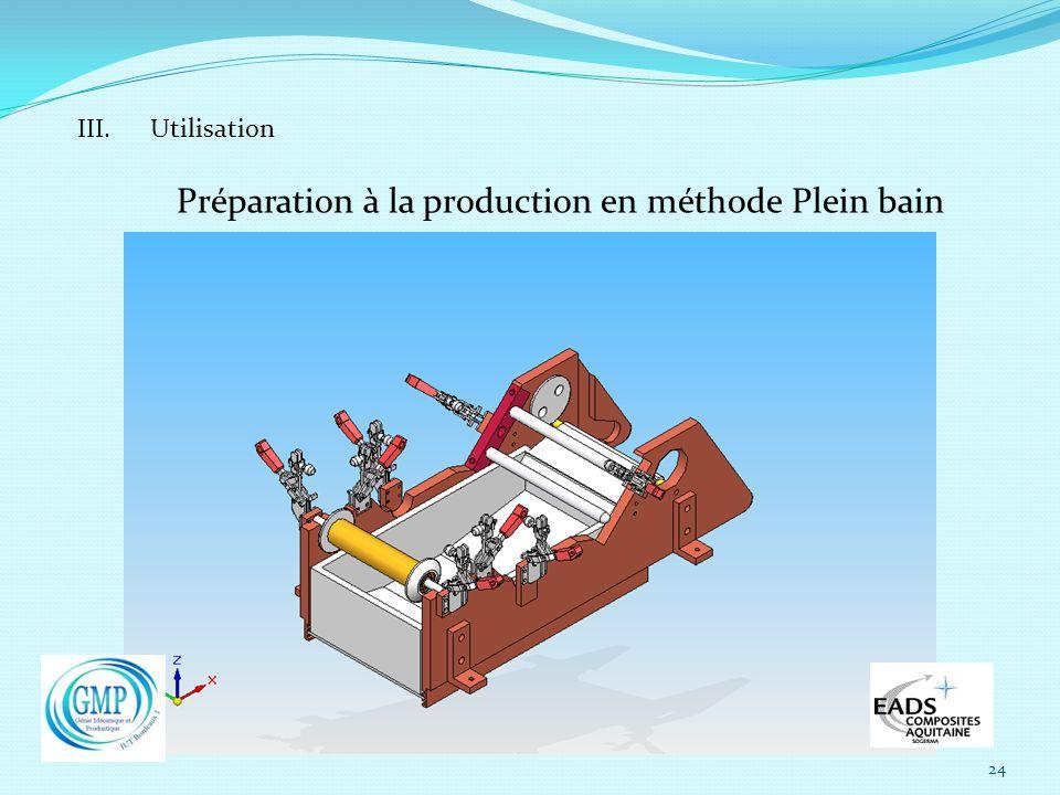 Préparation à la production en méthode Plein bain