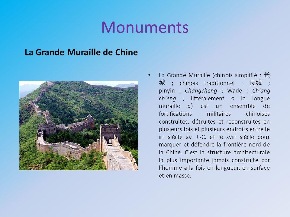 Monuments La Grande Muraille de Chine