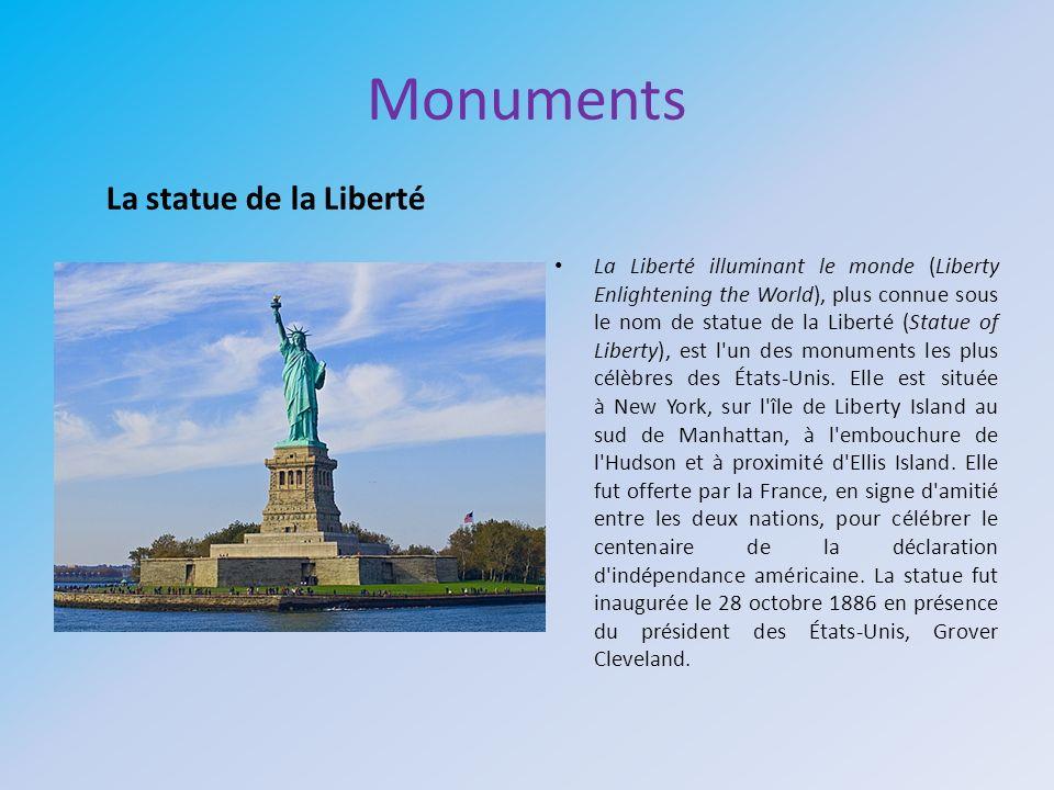 Monuments La statue de la Liberté