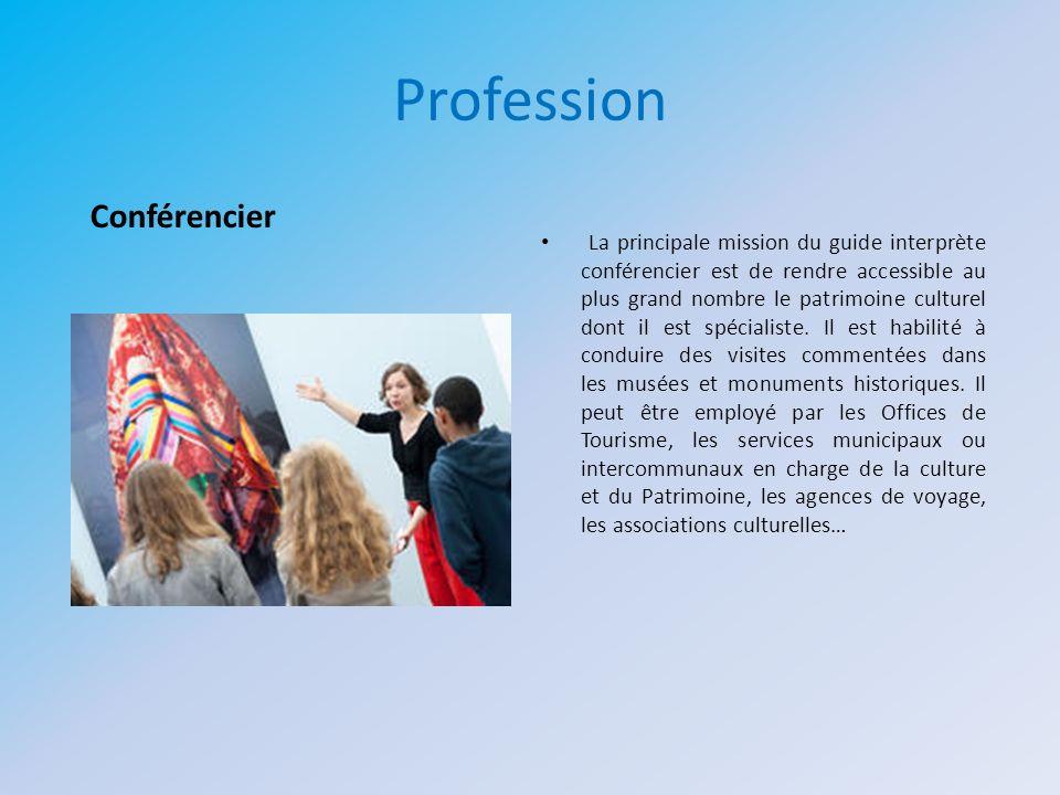 Profession Conférencier