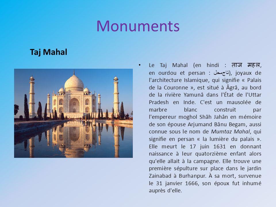 Monuments Taj Mahal.