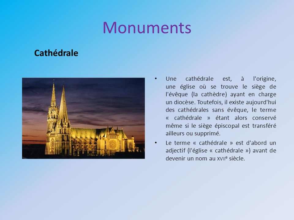 Monuments Cathédrale.