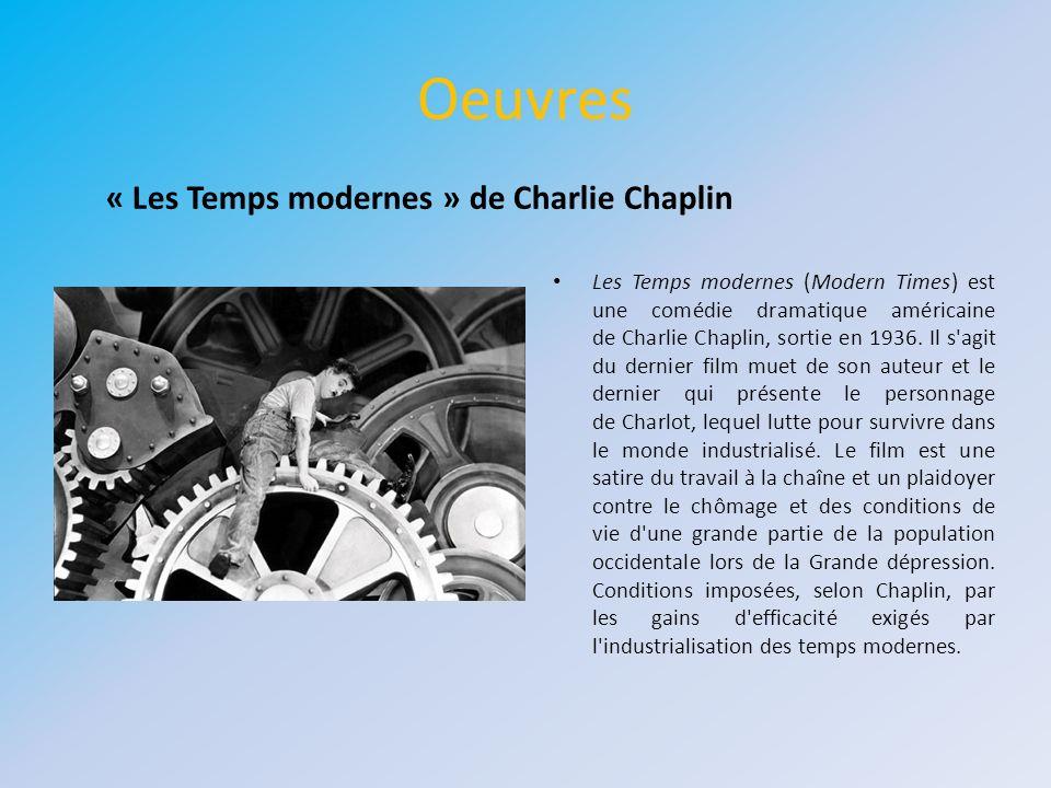 Oeuvres « Les Temps modernes » de Charlie Chaplin