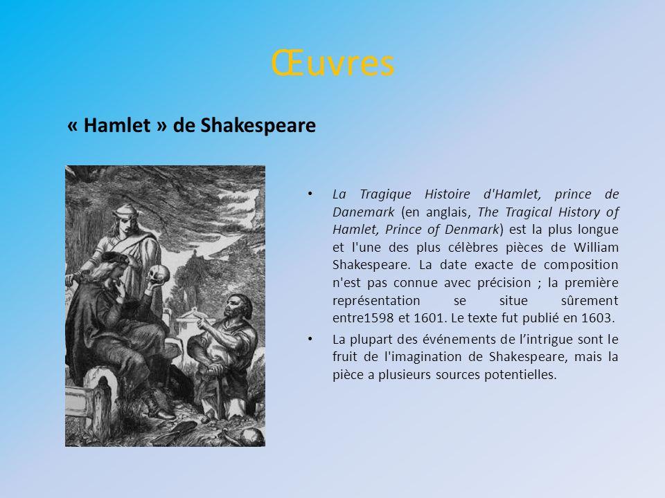 Œuvres « Hamlet » de Shakespeare