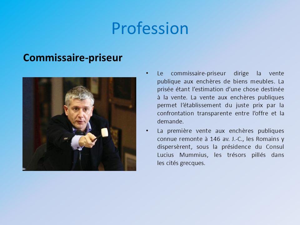 Profession Commissaire-priseur