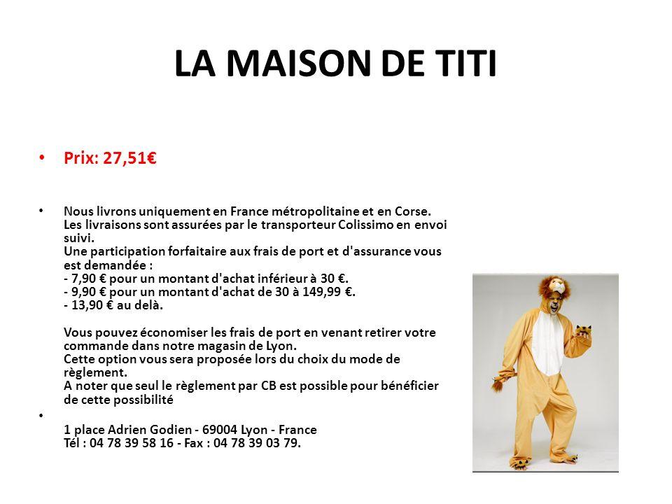LA MAISON DE TITI Prix: 27,51€