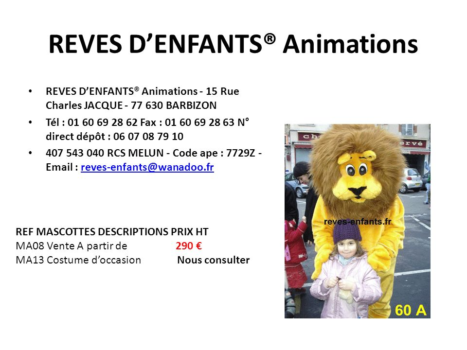 REVES D'ENFANTS® Animations