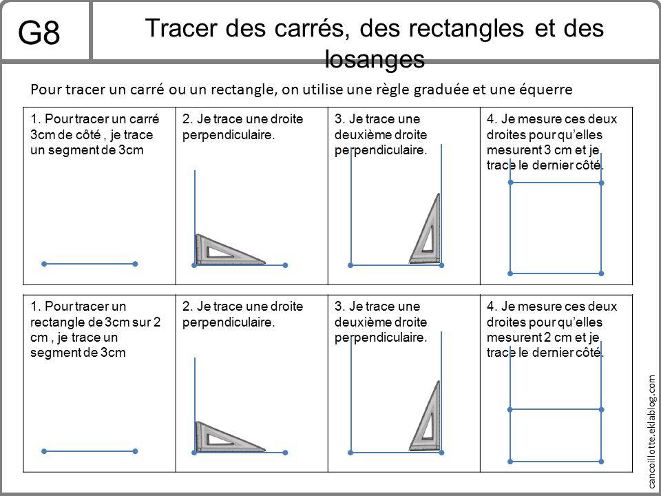 Tracer des carrés, des rectangles et des losanges