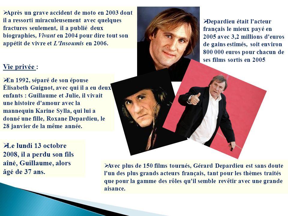 Après un grave accident de moto en 2003 dont il a ressorti miraculeusement avec quelques fractures seulement, il a publié deux biographies, Vivant en 2004 pour dire tout son appétit de vivre et L Insoumis en 2006.