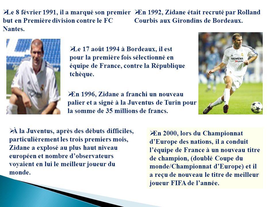 Le 8 février 1991, il a marqué son premier but en Première division contre le FC Nantes.