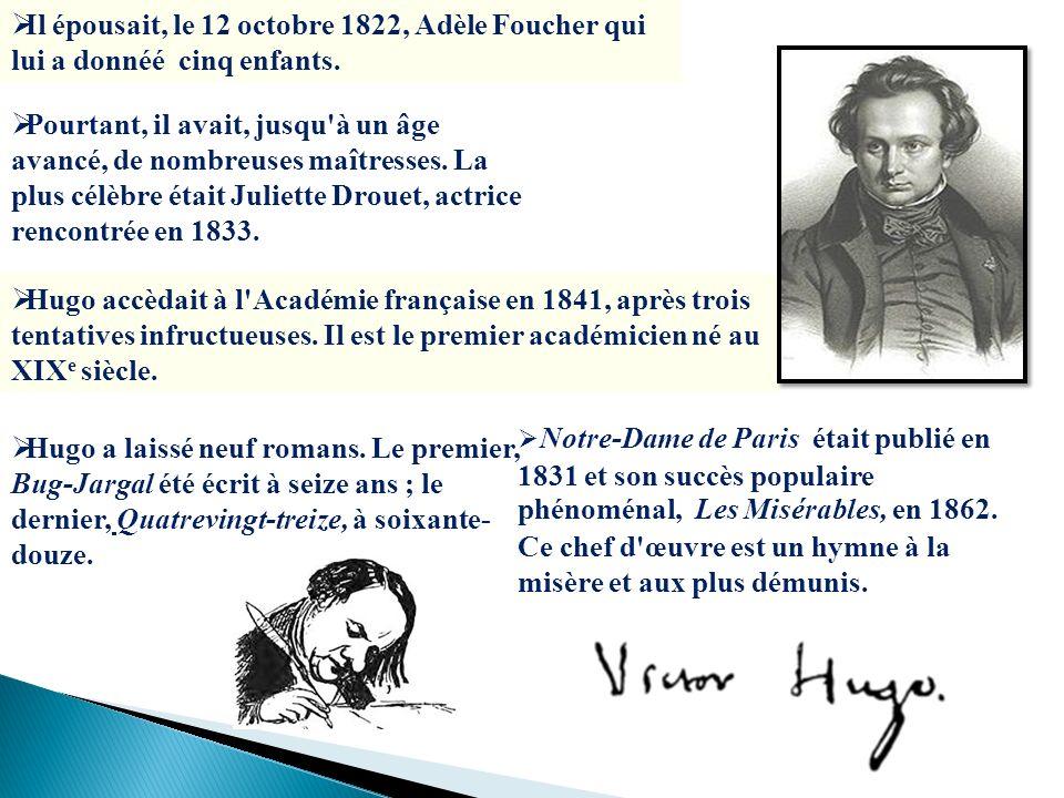 Il épousait, le 12 octobre 1822, Adèle Foucher qui lui a donnéé cinq enfants.