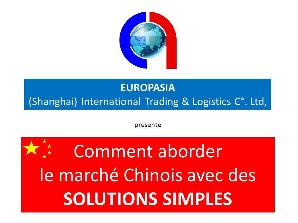 le marché Chinois avec des SOLUTIONS SIMPLES
