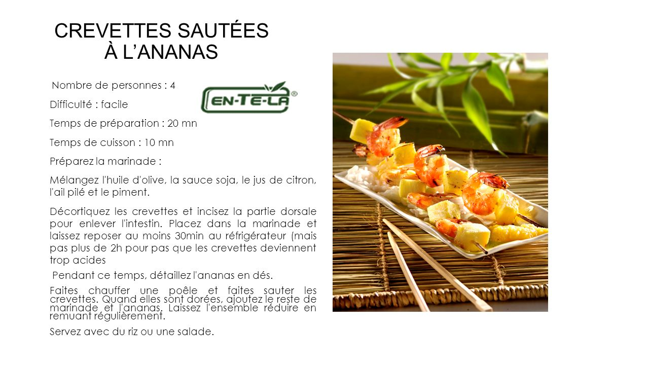 CREVETTES SAUTÉES À L'ANANAS