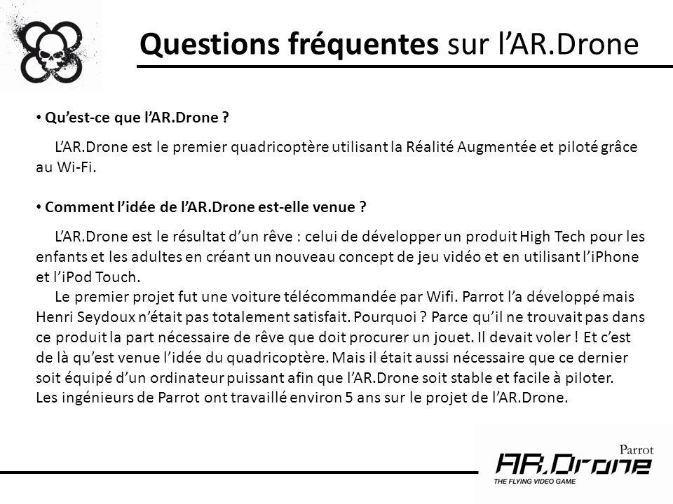 Questions fréquentes sur l'AR.Drone