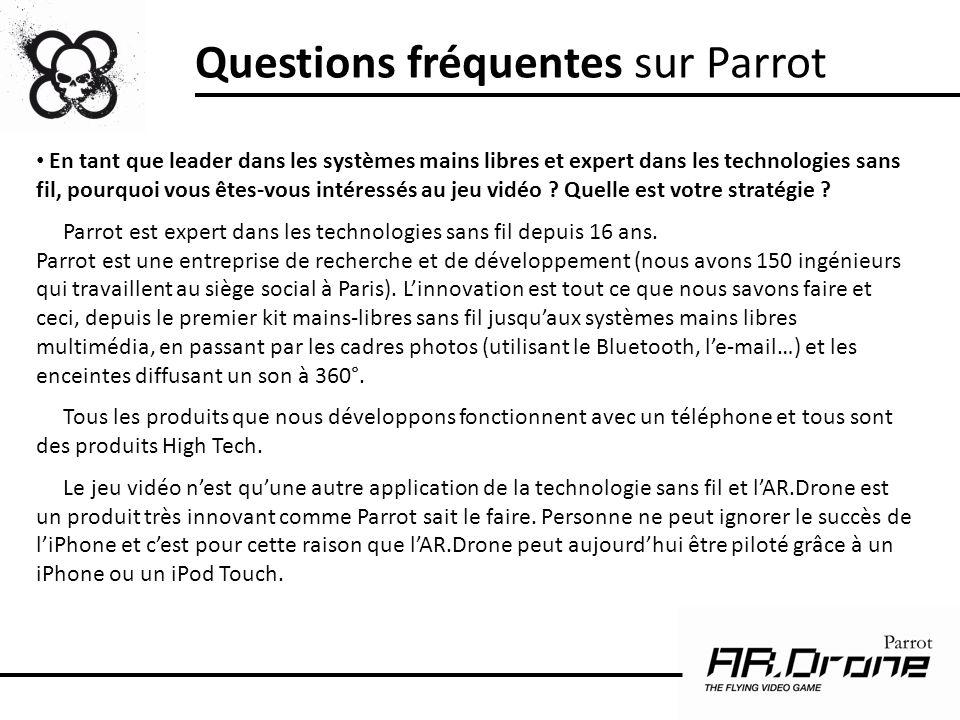 Questions fréquentes sur Parrot