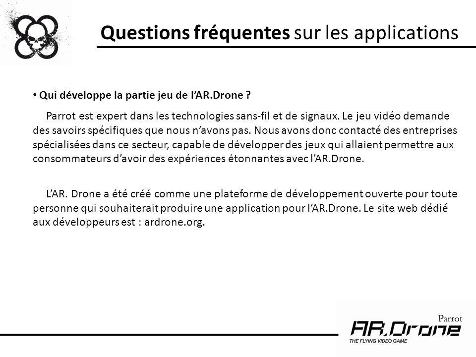 Questions fréquentes sur les applications